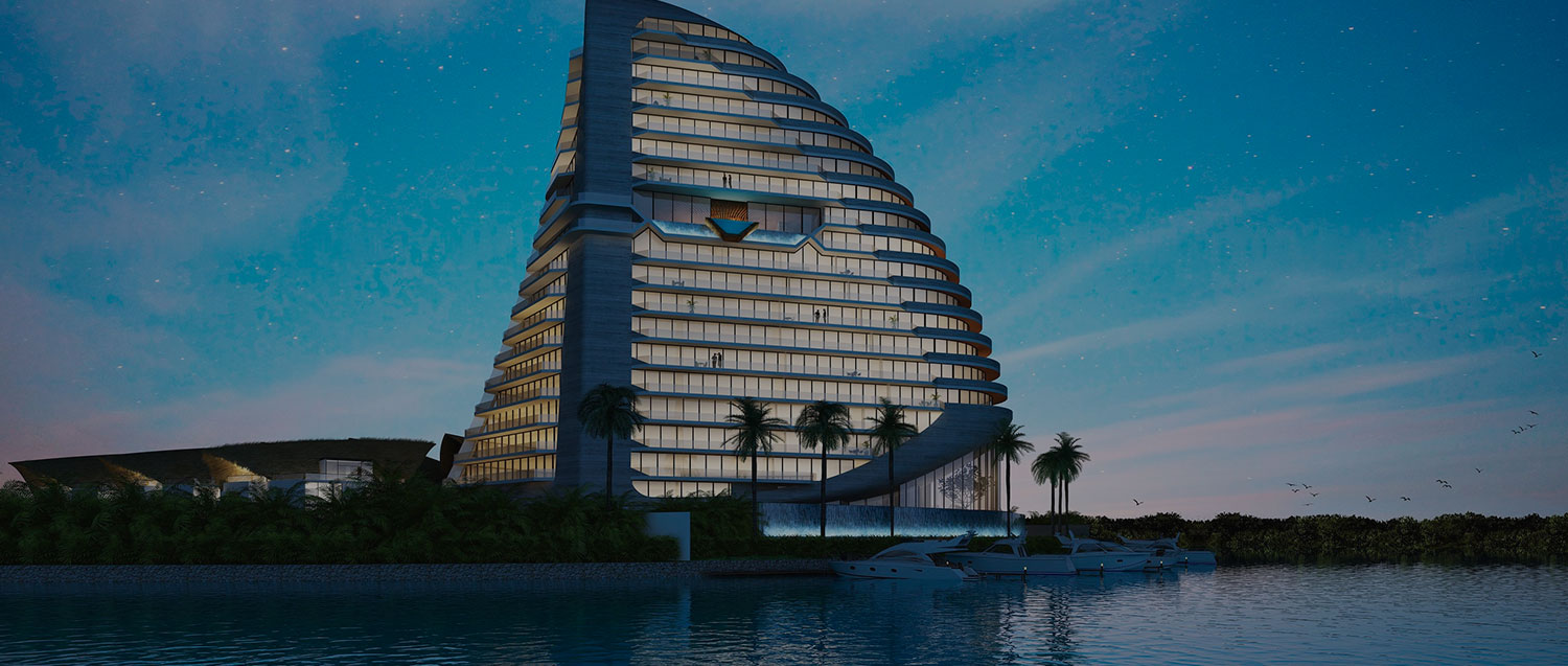 puerto cancun edificio the shark tower lujo